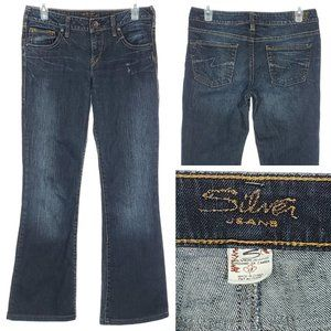 SILVER JEANS Aiko Bootcut Dark 28x30 Lower Mid